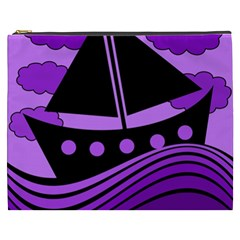 Boat   Purple Cosmetic Bag (xxxl)  by Valentinaart