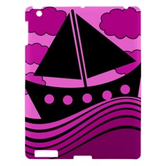Boat   Magenta Apple Ipad 3/4 Hardshell Case by Valentinaart