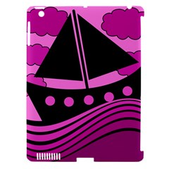 Boat   Magenta Apple Ipad 3/4 Hardshell Case (compatible With Smart Cover) by Valentinaart