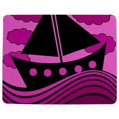 Boat   Magenta Jigsaw Puzzle Photo Stand (rectangular) by Valentinaart