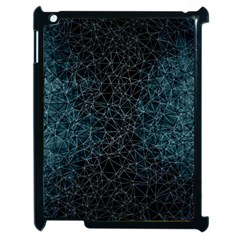 Polygonal And Triangles In Blue Colors  Apple Ipad 2 Case (black) by vanessagf