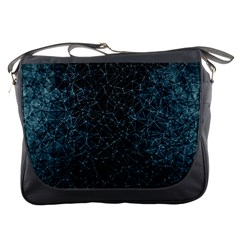 Polygonal And Triangles In Blue Colors  Messenger Bags