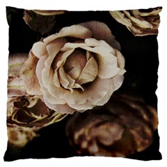 Roses Flowers Large Cushion Case (one Side) by vanessagf