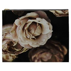 Roses Flowers Cosmetic Bag (xxxl)  by vanessagf