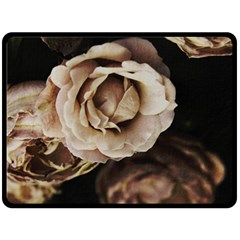 Roses Flowers Double Sided Fleece Blanket (large)  by vanessagf