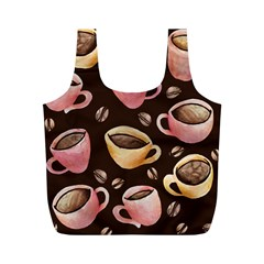 Coffee House Barista  Full Print Recycle Bags (m)  by BubbSnugg