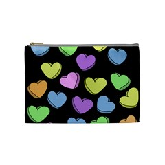 Valentine s Hearts Cosmetic Bag (medium)  by BubbSnugg
