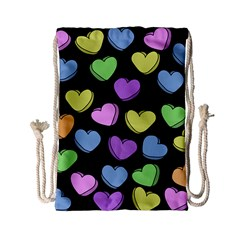 Valentine s Hearts Drawstring Bag (small) by BubbSnugg