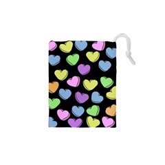 Valentine s Hearts Drawstring Pouches (xs)  by BubbSnugg