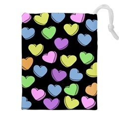 Valentine s Hearts Drawstring Pouches (xxl) by BubbSnugg