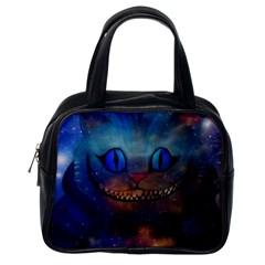 Space Cheshire Cat By Cyndi Honey Babie Classic Handbag (one Side) by honeybabieart