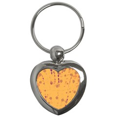Orange Decor Key Chains (heart)  by Valentinaart