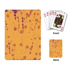 Orange Decor Playing Card by Valentinaart