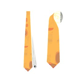 Orange Decor Neckties (one Side)  by Valentinaart