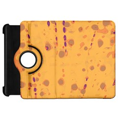 Orange Decor Kindle Fire Hd Flip 360 Case by Valentinaart