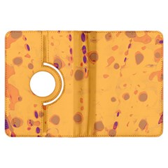 Orange Decor Kindle Fire Hdx Flip 360 Case by Valentinaart