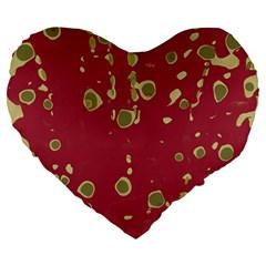 Elegant Art Large 19  Premium Flano Heart Shape Cushions by Valentinaart