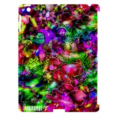 Pink Floral Abstract Apple Ipad 3/4 Hardshell Case (compatible With Smart Cover) by KirstenStar