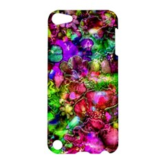 Pink Floral Abstract Apple iPod Touch 5 Hardshell Case by KirstenStar