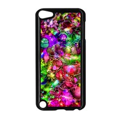 Pink Floral Abstract Apple Ipod Touch 5 Case (black) by KirstenStar