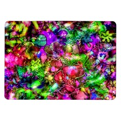 Pink Floral Abstract Samsung Galaxy Tab 10 1  P7500 Flip Case by KirstenStar
