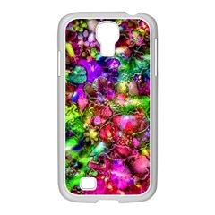 Pink Floral Abstract Samsung Galaxy S4 I9500/ I9505 Case (white) by KirstenStar
