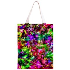 Pink Floral Abstract Classic Light Tote Bag by KirstenStar