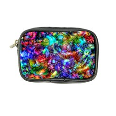 Blue Floral Abstract Coin Purse by KirstenStar