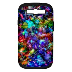 Blue Floral Abstract Samsung Galaxy S Iii Hardshell Case (pc+silicone) by KirstenStar