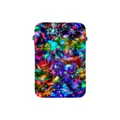 Blue Floral Abstract Apple Ipad Mini Protective Soft Cases by KirstenStar