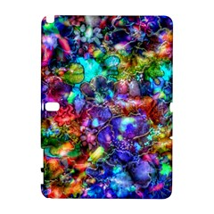 Blue Floral Abstract Samsung Galaxy Note 10 1 (p600) Hardshell Case by KirstenStar