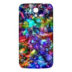 Blue Floral Abstract Samsung Galaxy Mega I9200 Hardshell Back Case by KirstenStar