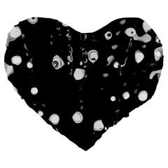 Black Dream  Large 19  Premium Heart Shape Cushions by Valentinaart