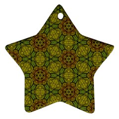 Camo Abstract Shell Pattern Ornament (star)  by TanyaDraws