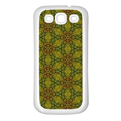 Camo Abstract Shell Pattern Samsung Galaxy S3 Back Case (white) by TanyaDraws