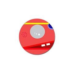 Cute face Golf Ball Marker by Valentinaart