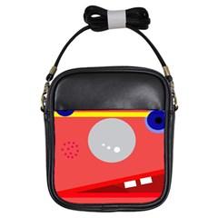 Cute Face Girls Sling Bags by Valentinaart
