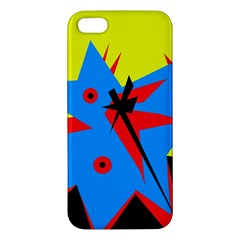 Clock Iphone 5s/ Se Premium Hardshell Case by Valentinaart