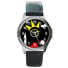 Stay Cool Round Metal Watch by Valentinaart