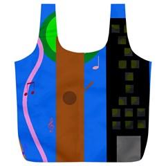 Growing  Full Print Recycle Bags (l)  by Valentinaart