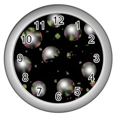 Silver balls Wall Clocks (Silver)