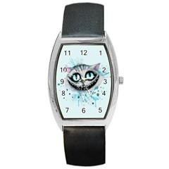 Cheshire Watercolor  Barrel Style Metal Watch by lvbart