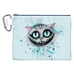 Cheshire Watercolor  Canvas Cosmetic Bag (xxl) by lvbart