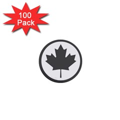 Low Visibility Roundel Of The Royal Canadian Air Force 1  Mini Buttons (100 Pack)  by abbeyz71