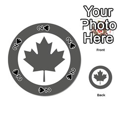 Low Visibility Roundel Of The Royal Canadian Air Force Playing Cards 54 (round)