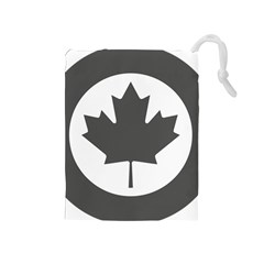 Low Visibility Roundel Of The Royal Canadian Air Force Drawstring Pouches (medium)  by abbeyz71