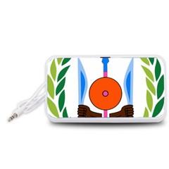 National Emblem of Djibouti  Portable Speaker (White)  by abbeyz71