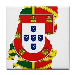 Flag Map Of Portugal Tile Coasters