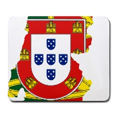 Flag Map Of Portugal Large Mousepads by abbeyz71