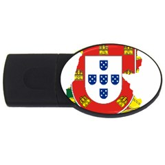 Flag Map of Portugal USB Flash Drive Oval (1 GB)  by abbeyz71